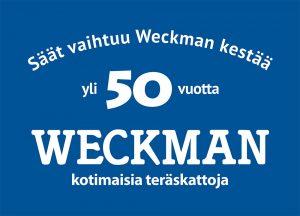 Weckman peltikatto, kattopellit